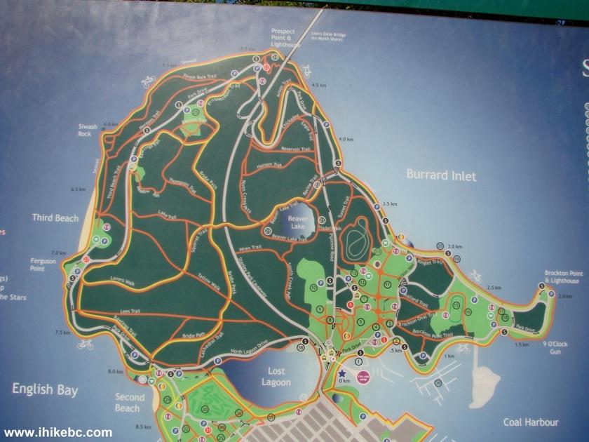 stanley park seawall map pdf